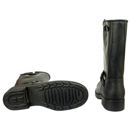 Men Biker Boots by Johnny Bulls - 7828 BLACK SOLE