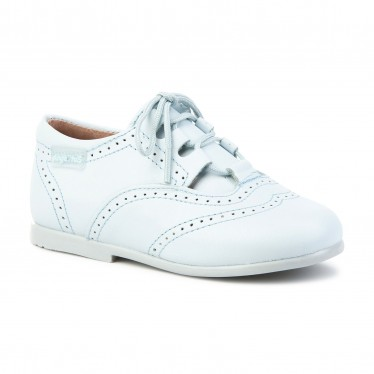 Childrens Boy Girl Leather School English Shoes Lace-up 505 Celeste, by AngelitoS