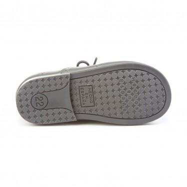 Zapatos Inglesitos Colegiales Infantil Niño Niña Piel Cordones 505 Gris, de Angelitos