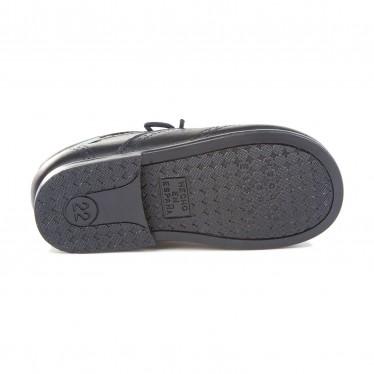 Zapatos Inglesitos Colegiales Infantil Niño Niña Piel Cordones 505 Marino, de Angelitos