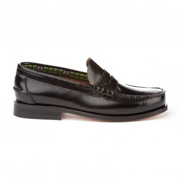 Zapatos Castellanos Colegiales Niño Piel Suela De Cuero 595 Negro, de Angelitos