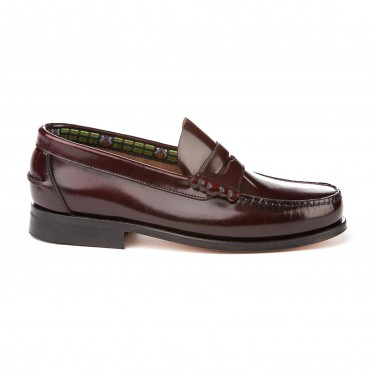 Boys Leather Penny Loafers School Shoes Leather Sole 595 Burgundy, by AngelitoS