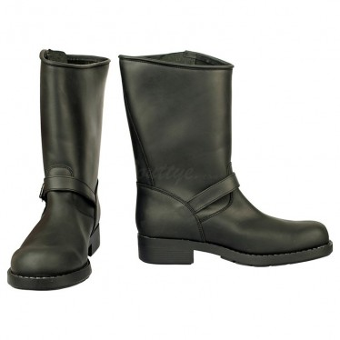 Men Biker Boots by Johnny Bulls - 7828 BLACK SOLE