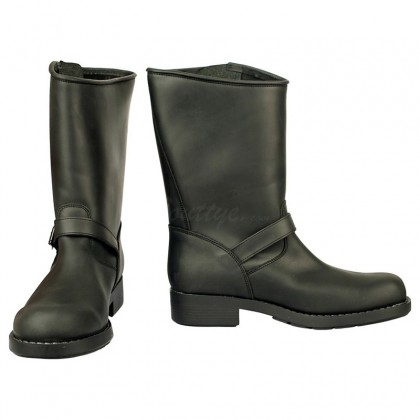Men Biker Boots by Johnny Bulls - 7828 BLACK SIDE