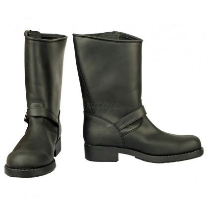 Men Biker Boots by Johnny Bulls - SEV7828 BLACK SIDE