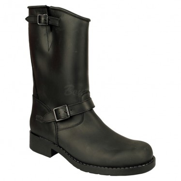 Men Biker Boots by Johnny Bulls 7828 BLACK