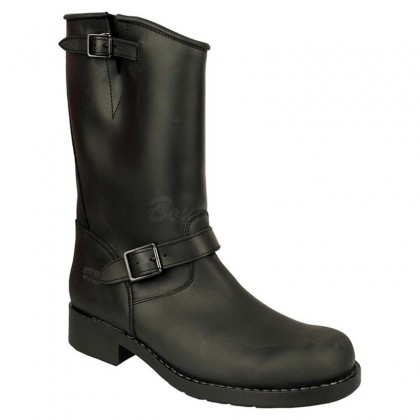 Men Biker Boots by Johnny Bulls - 7828 BLACK