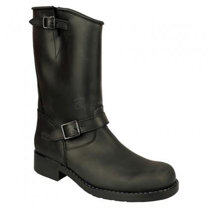 Men Biker Boots by Johnny Bulls - SEV7828 BLACK