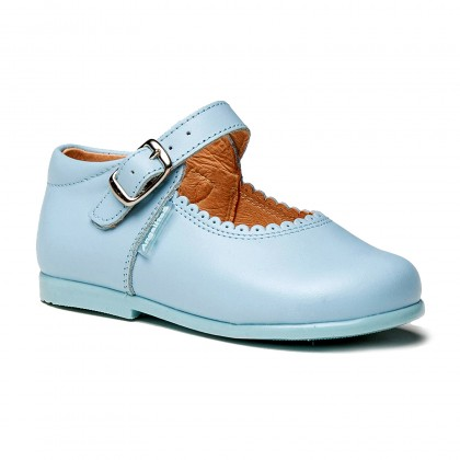 Childrens Girl Leather School Mary Jane Shoes Buckle 500 Sky Blue, by AngelitoS