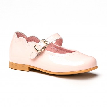 Girls Patent Leather Mary Jane Shoes Buckle 1100 Pink, by AngelitoS