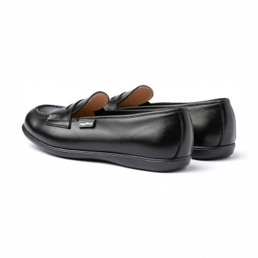Girls Nappa Leather School Loafers Mask 467 Black, by AngelitoS