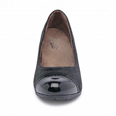 Zapatos De Salón Cómodos Mujer Piel Punta Charol Plantilla Extraíble 93 Negro, de Tupié