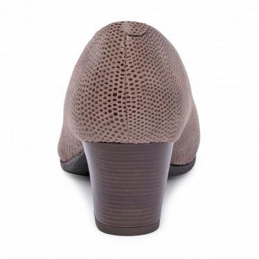 Zapatos De Salón Cómodos Mujer Piel Punta Charol Plantilla Extraíble 93 Taupe, de Tupié