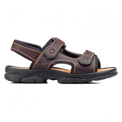 Bio skin, Morxiva man sandals. Plant anatomy. Breathable lining. Adjustment with straps and velcro.
