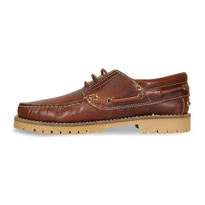 MEN LEATHER BOAT SHOES SEV200CA LEATHER, BY CASUAL INNER SIDE