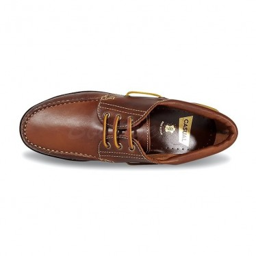 MEN LEATHER BOAT SHOES SEV200CA LEATHER, BY CASUAL SOLE