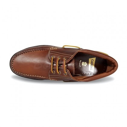 MEN LEATHER BOAT SHOES SEV200CA LEATHER, BY CASUAL TOP