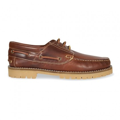 MEN LEATHER BOAT SHOES SEV200CA LEATHER, BY CASUAL SIDE