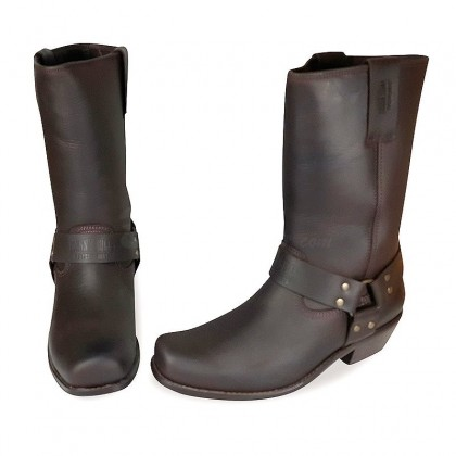 Men Biker Boots by Johnny Bulls 4829 BROWN PAIR