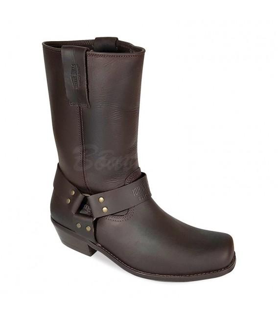 Men Biker Boots by Johnny Bulls 4829 BROWN SOLE