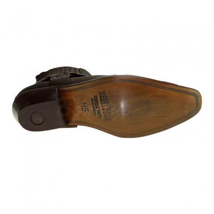Men Biker Ankle Boots by Johnny Bulls - SEV4709 BROWN