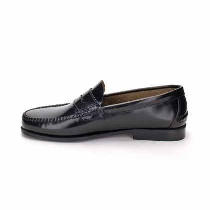 Man Beef Roll Leather Loafers Mask 300 black, by Marttely Classic