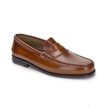 Man Leather Beefroll Penny Loafers 300 Leather, by Marttely Classic