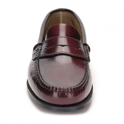 Man Beef Roll Leather Loafers Mask 300 Bordeaux, by Marttely Classic