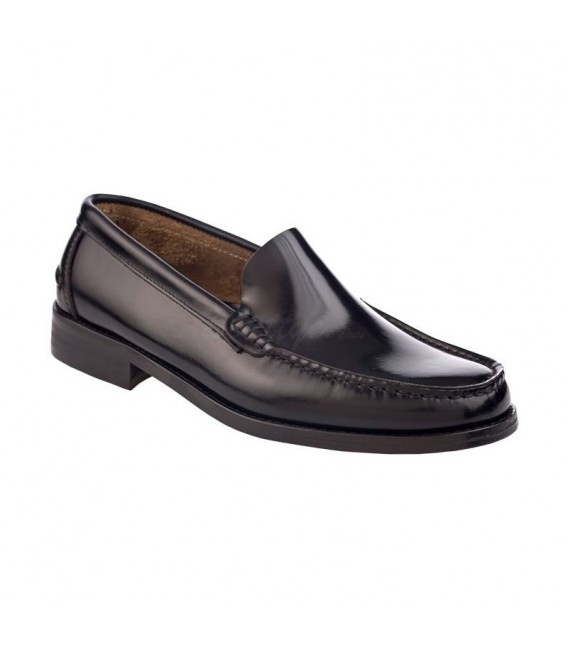 Man Beef Roll Leather Loafers Flat 402 Black, by Marttely Classic