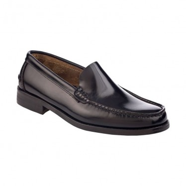 Man Leather Beefroll Loafers Flat 402 Black, by Marttely Classic
