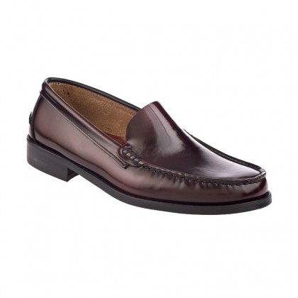 Man Beef Roll Leather Loafers Flat 402 Bordeaux, by Marttely Classic