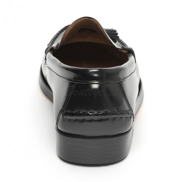 Man Beef Roll Leather Loafers Tassels 805MA Black, by Marttely Classic