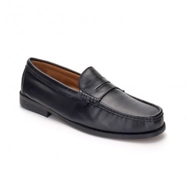 Man Soft Leather Beefroll Penny Loafers 500 Black, by Marttely Classic