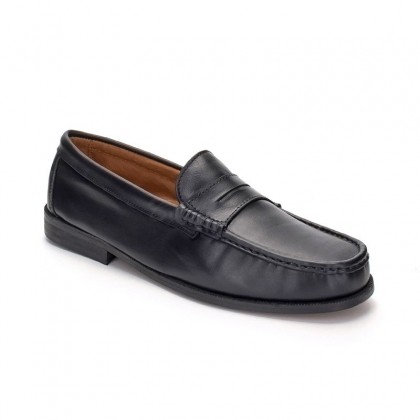 Man Beef Roll Soft Leather Loafers Mask 500 Black, by Marttely Classic