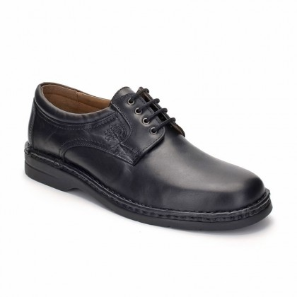 Man Leather Derby Shoes 6050 BLACK, by Comodo Sport