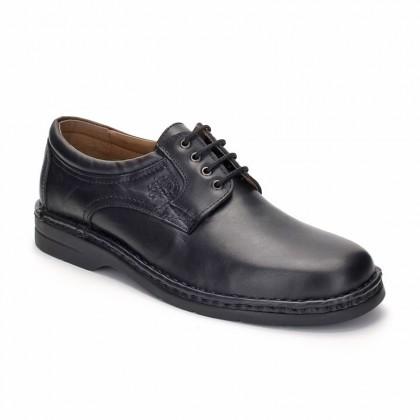 Zapatos Derby Hombre Piel 6050 Negro, de Comodo Sport