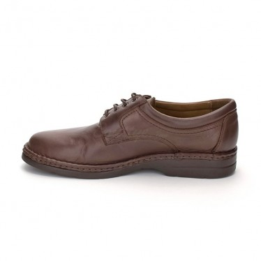 Man Leather Derby Shoes 6050 Mahogany, by Comodo Sport