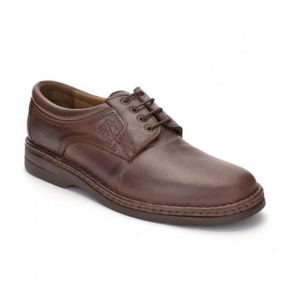 Zapatos Derby Hombre Piel 6050 Caoba, de Comodo Sport