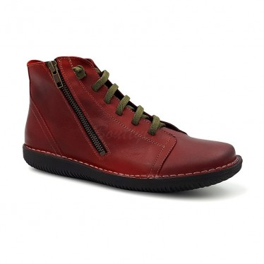 Woman Leather Booties 3012 Bordeaux, By Boleta Shoes