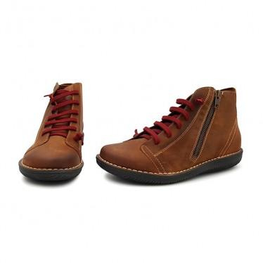 Botines Mujer Piel 3012 Cuero, de Boleta Shoes