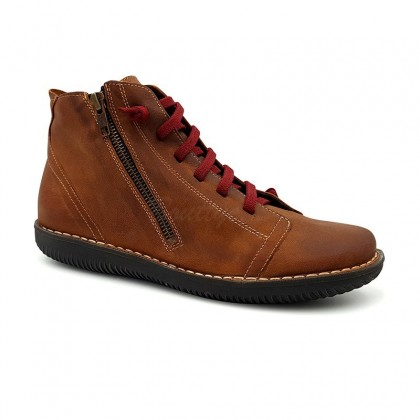 Woman Leather Booties 3012 Leather, By Boleta Shoes
