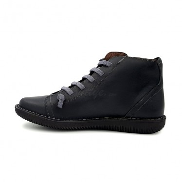 Woman Leather Booties 3012 Black, By Boleta Shoes