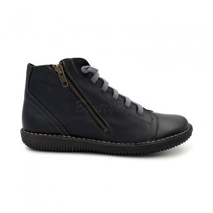 Botines Mujer Piel 3012 Negro, de Boleta Shoes