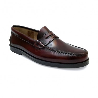 Woman/Child Leather Penny Loafers 301MD Bordeaux, by Marttely Classic