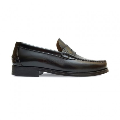 Man Beef Roll Leather Loafers Mask 800 Black, by Marttely Classic