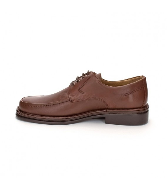 Man Leather Derby Shoes 597 Brandy, By Comodo Sport