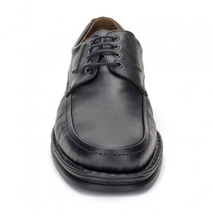 Man Leather Derby Shoes 597 Black, By Comodo Sport