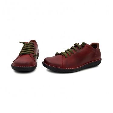 Woman Leather Sneakers 200 Bourdeaux, By Boleta Shoes