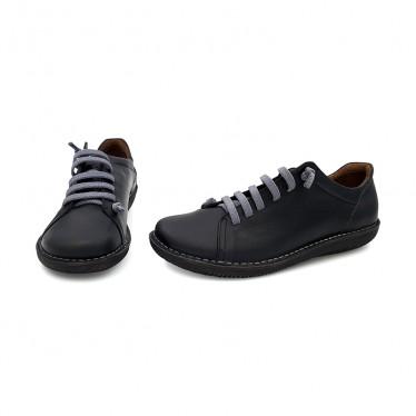Woman Leather Sneakers 200 Black, By Boleta Shoes