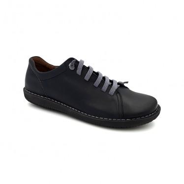 Deportivas Mujer Piel Cordón Elástico 200 Negro, de Boleta Shoes